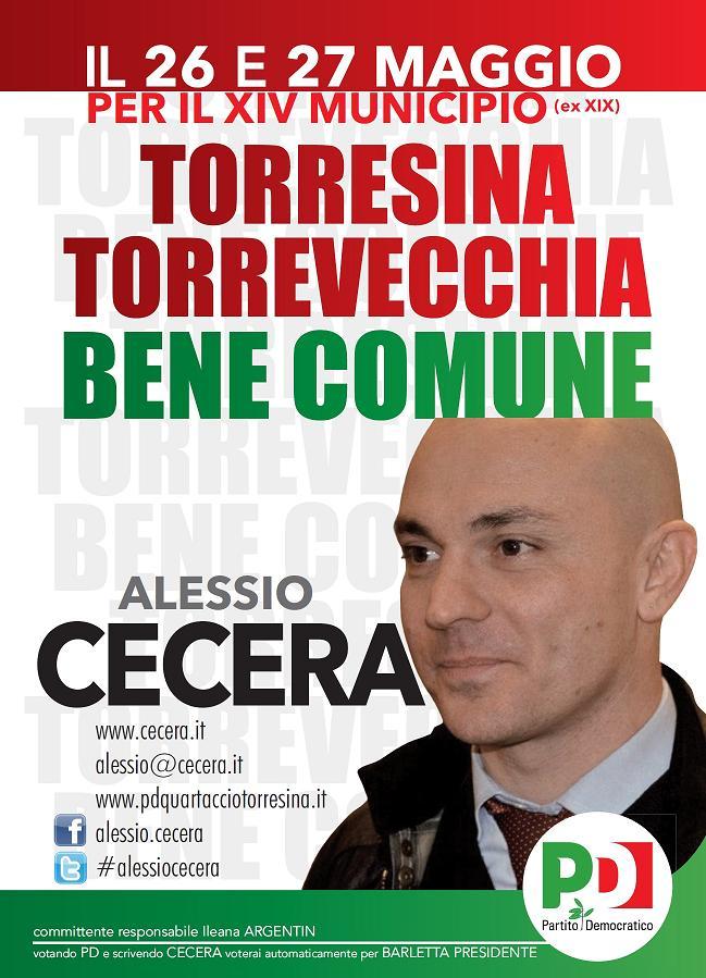 Municipio Monte Mario: Alessio Cecera (Partito Democratico)