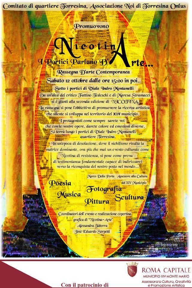 Sabato 12 ottobre, Nicotina Arte