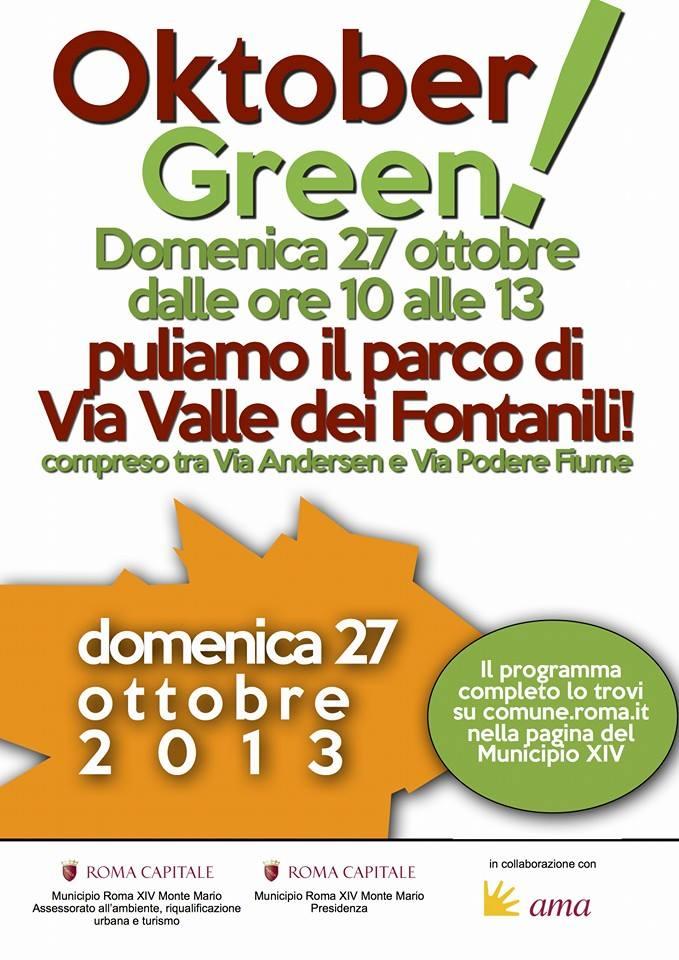 Domenica prossima Oktober Green all'Archeoparco