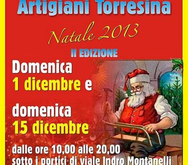 Domenica 15 dicembre torna la Mostra Mercato degli Artigiani di Torresina