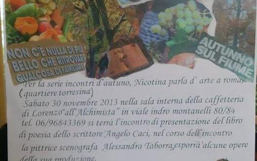 Sabato 30 novembre Nicotina Arte…