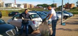 La pulizia di via Paolo Rosi