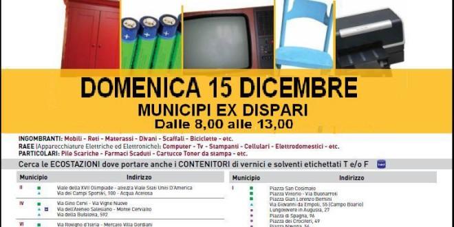 Domenica 15 dicembre torna Il tuo quartiere non è una discarica