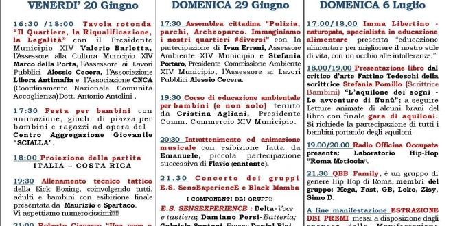 Domenica 29 giugno, I love Quartaccio Torresina