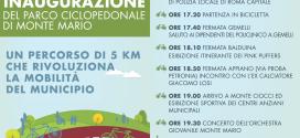 Sabato 14 giugno inaugurazione Parco Ciclopedonale di Monte Mario