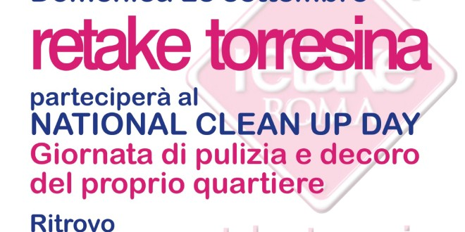 Domenica 28 settembre TORRESINA CLEAN UP DAY