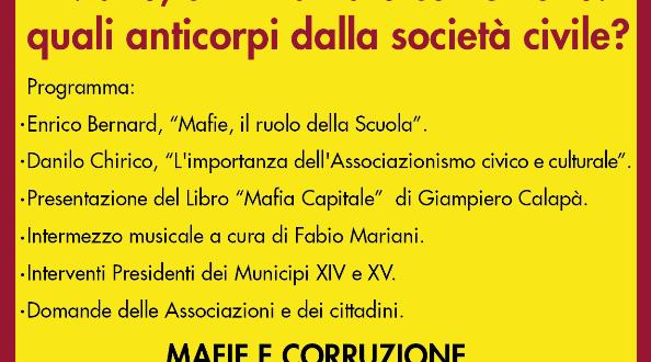 Sabato 28 marzo a viale dei Monfortani, Convegno sulle Mafie