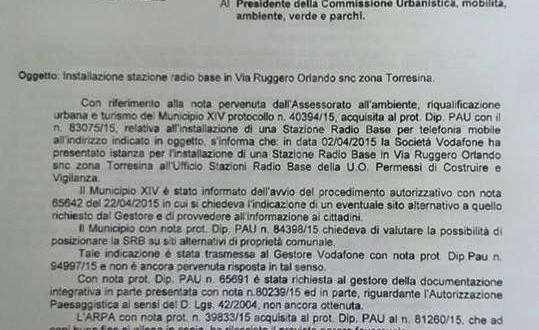 Stazione Radio Base Ruggero Orlando. Aggiornamento in Commissione Ambiente