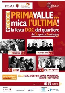 PRIMAVALLE MICA L'ULTIMA DAL 31 AGOSTO AL 6 SETTEMBRE 2015