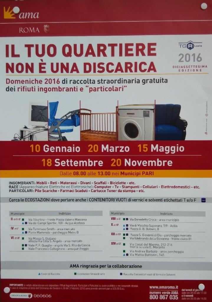 raccolta, gratuita, rifiuti, ingombranti, AMA, Tg3 Lazio