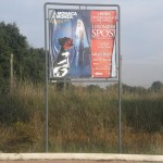 Cartelloni abusivi lungo via di Torresina angolo via Andrea Barbato