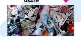 Raccolta di scarpe da ginnastica usate